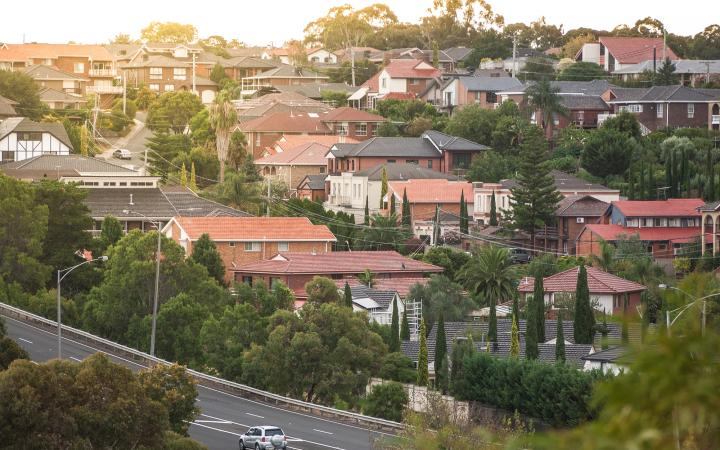 An image showing streets of residential housing in Moonee Valley.